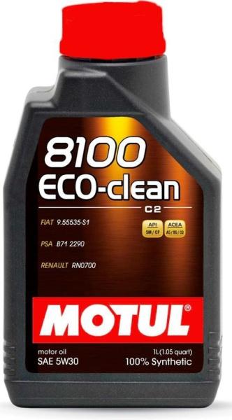 motorov oleje motul 8100 eco clean 5w 30 1l oleje. Black Bedroom Furniture Sets. Home Design Ideas
