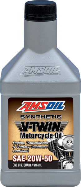 Amsoil Synthetic V-Twin Motorcycle Oil 20W-50 *1Q