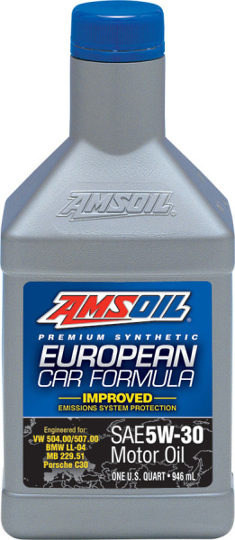 Amsoil European Car Formula 5W-30 Improved ESP Synthetic Motor Oil *0,946 l