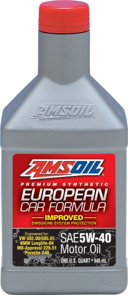 Amsoil European Car Formula 5W-40 Improved ESP Synthetic Motor Oil *0,946 l