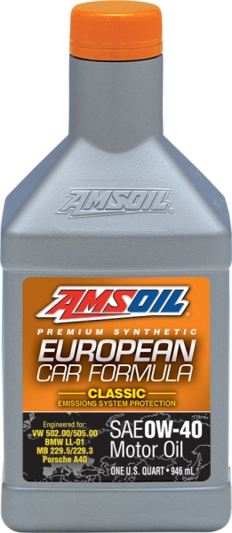 Amsoil European Car Formula 0W-40 Classic ESP Synthetic Motor Oil 946 ml