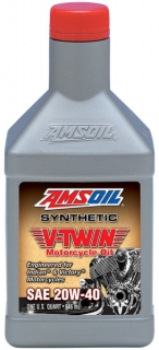 Amsoil Synthetic V-Twin Motorcycle Oil 20W-40 *1Q