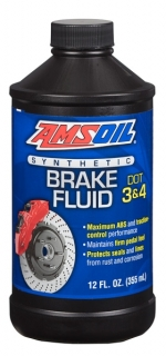 Amsoil DOT 3 & DOT 4 Synthetic Brake Fluid 355 ml